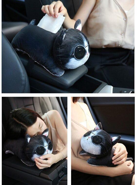 DogMEGA Pet Cute Car Tissue Box