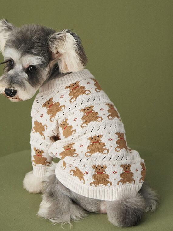 DogMEGA Winter Cardigan Sweater for Small Dog