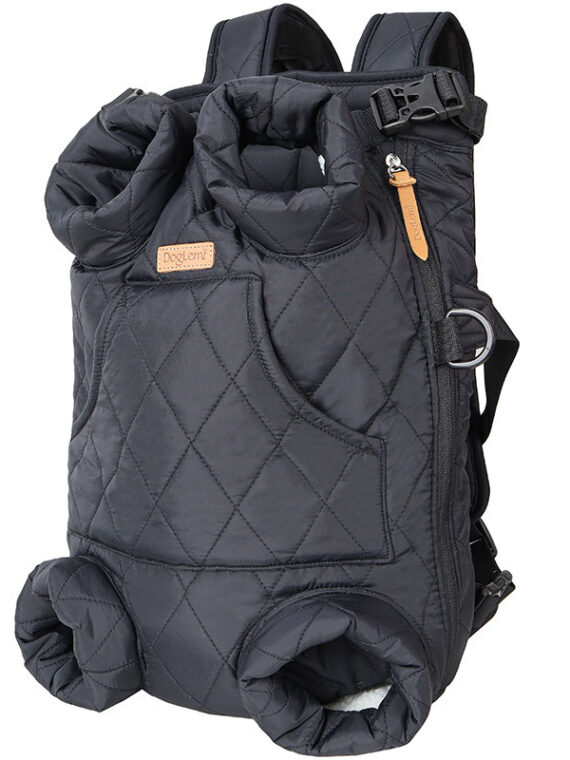 DogMEGA Dog Winter Backpack | Warm Thickened Outing Backpack for Small Dog