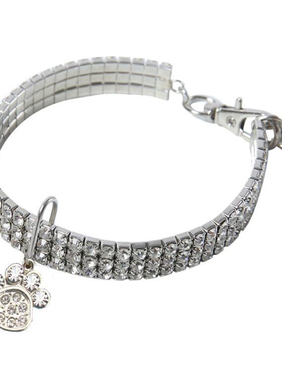 Love Heart Crystal Dog Collar Necklace