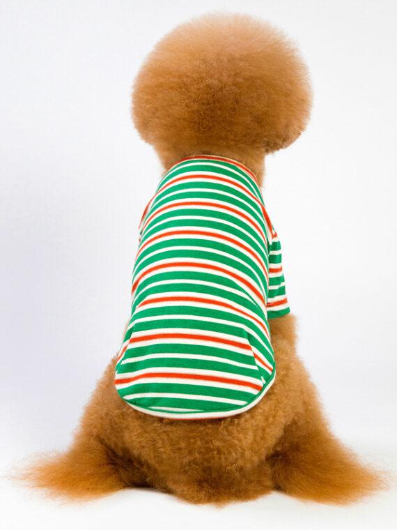 Small and Medium Dog Striped T-shirt