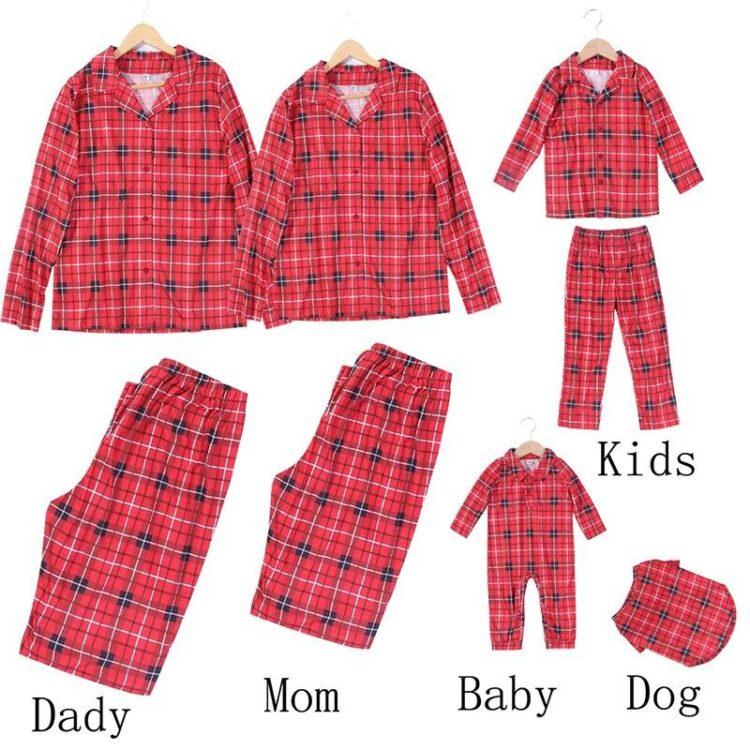 DogMEGA Christmas Family and Dog Matching Pajamas