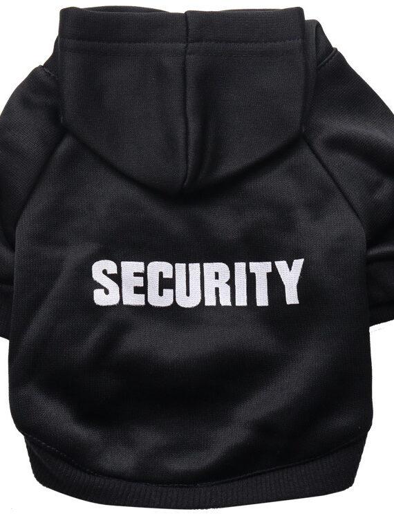 DogMEGA Fleece Cloth Hooded Security Dog Sweater